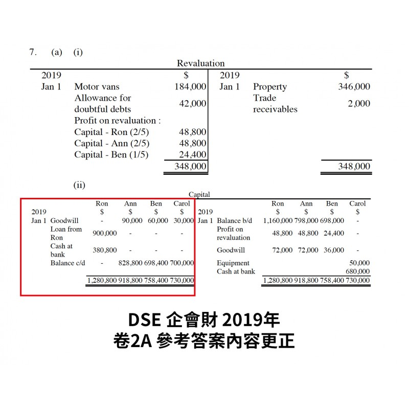 DSE BAFS Suggested Solution 2019 Paper2A answer revised